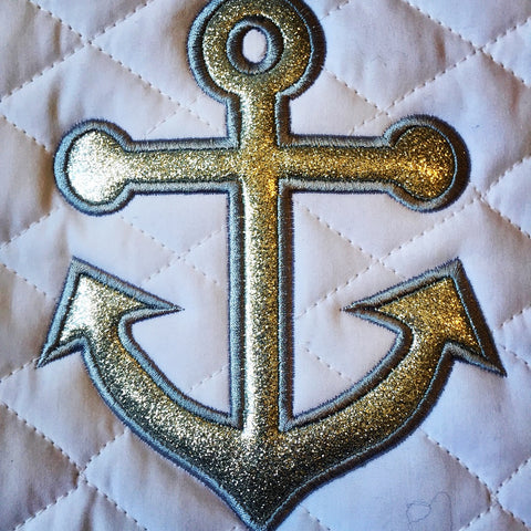 Anchors Away Glitter Baby Pad