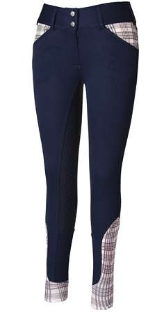 Baker Ladies Pro Full Seat Breeches - The Houndstooth Horse  - 1