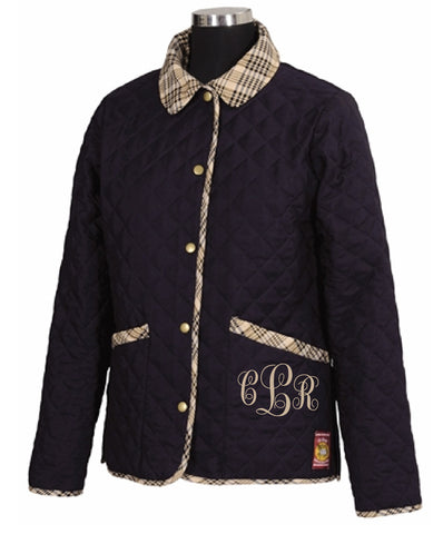 Baker Quilted Jacket - The Houndstooth Horse  - 1