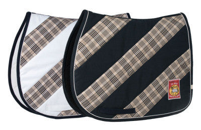 Baker Stripe All Purpose Saddle Pad - The Houndstooth Horse