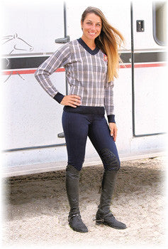 Baker Ladies Plaid Sweater - The Houndstooth Horse  - 5