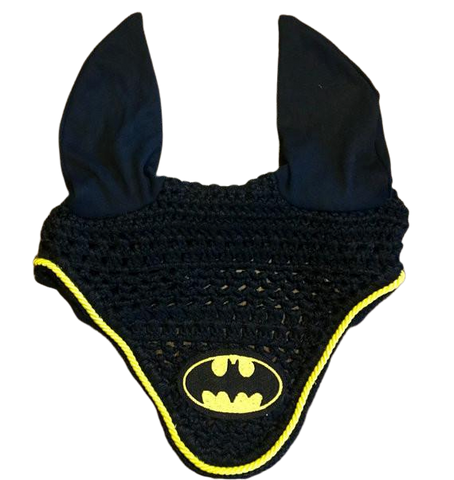 Batman Embroidered Fly Bonnet - The Houndstooth Horse  - 1