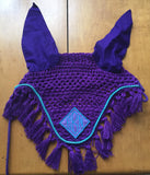 Embroidered Fly Bonnet with tassels - The Houndstooth Horse  - 1