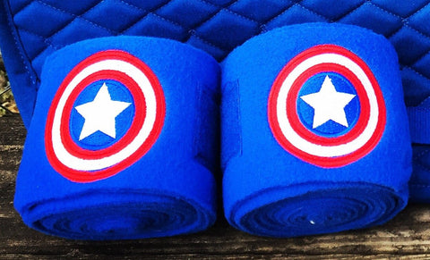 Captain America Embroidered Polo Wraps