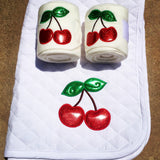 Cherry Bomb Glitter Baby Pad & Polo Wraps Set