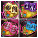 Glitter Monogram Polo Wraps - EASTER COLORS!