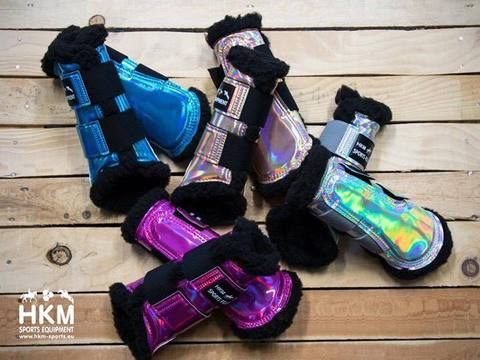 Holographic Space Brushing Protection Boots by HKM