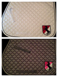 Crest Embroidered Saddle Pad - The Houndstooth Horse  - 1