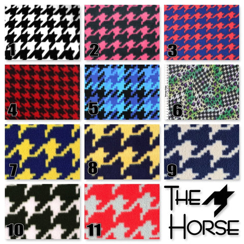 Fleece Quarter Sheet - Houndstooth - The Houndstooth Horse  - 1