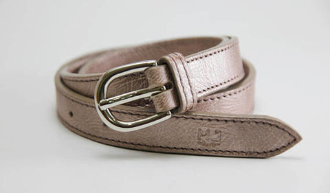 MJ women genuine leather pink gray handcrafted