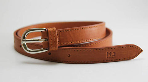 MJ leather belt genuine leather handcrafted woman