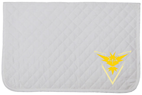 Pokemon GO Embroidered Baby Pad - Team Instinct - The Houndstooth Horse