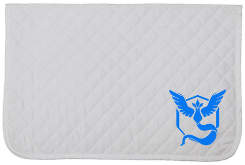 Pokemon GO Embroidered Baby Pad - Team Mystic - The Houndstooth Horse