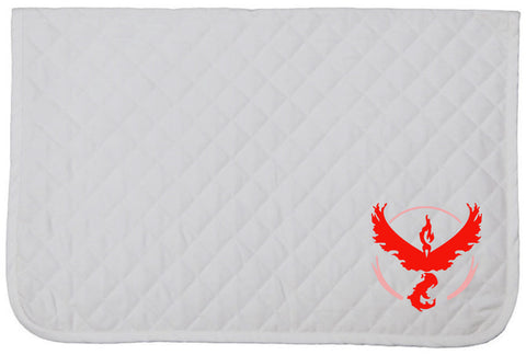 Pokemon GO Embroidered Baby Pad - Team Valor - The Houndstooth Horse