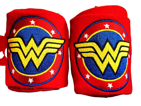 Wonder Woman Circle Logo Embroidered Polo Wraps comic book - The Houndstooth Horse