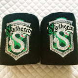 Harry Potter Slytherin Crest logo Embroidered Polo Wraps - The Houndstooth Horse  - 1