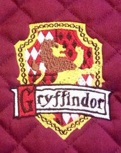 Harry Potter Gryffindor House Crest Embroidered Saddle Pad - The Houndstooth Horse  - 1