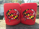 Maryland Flag Crab Embroidered Polo Wraps - The Houndstooth Horse  - 1