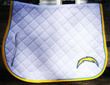 ANY TEAM! NFL Football - 3 color saddle pad w/ logo - Pony, A/P or Dressage - The Houndstooth Horse  - 1