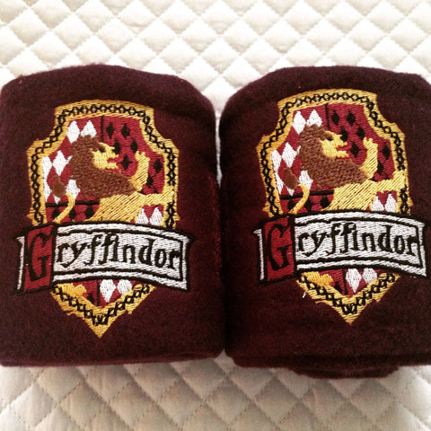 Harry Potter Gryffindor Crest logo Embroidered Polo Wrapstest - The Houndstooth Horse  - 1