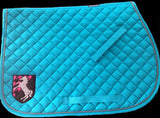 Applique Horse Crest Saddle Pad - The Houndstooth Horse  - 2