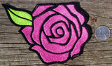 BIG Embroidered Rose Patch iron on sew on glue on rockabilly day of the dead - The Houndstooth Horse  - 2