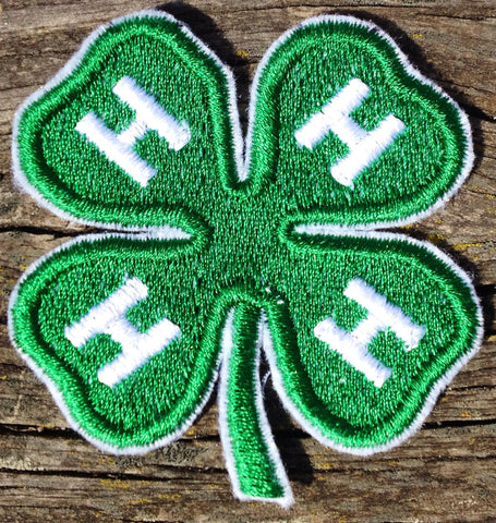 4-H Embroidered Patch sew on glue on iron on - The Houndstooth Horse  - 1
