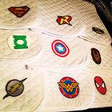 Superhero Comic Book Embroidered Baby Pad - The Houndstooth Horse  - 1