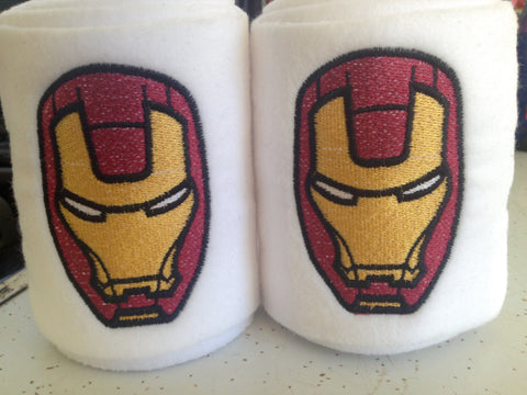 Iron Man Embroidered Polo Wraps - The Houndstooth Horse