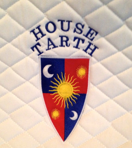 Game of Thrones House Tarth Embroidered Saddle Pad - The Houndstooth Horse  - 1