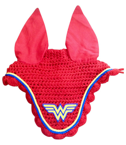 Ultimate Wonder Woman Embroidered Fly Bonnet - The Houndstooth Horse  - 1