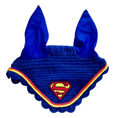 Ultimate Superman Logo Embroidered Fly Bonnet - The Houndstooth Horse  - 1