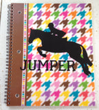 Equestrian Round Monogram Vinyl Decal - 4 sizes - The Houndstooth Horse  - 4