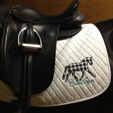 Applique Embroidered Dressage Saddle Pad - The Houndstooth Horse  - 2