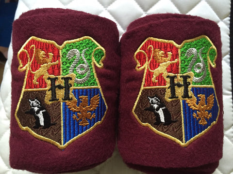 Harry Potter Hogwarts Crest logo Embroidered Polo Wraps - The Houndstooth Horse