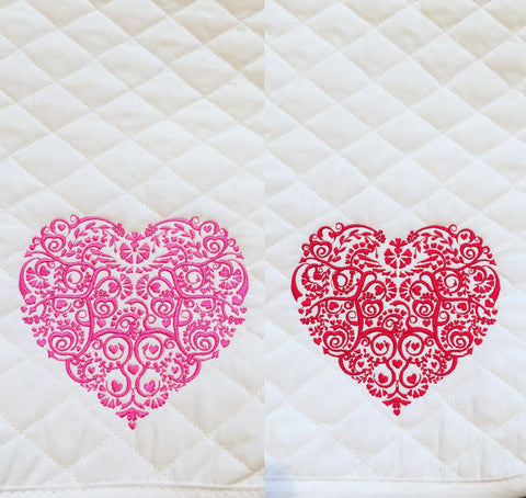 Valentines Heart Embroidered Baby Pad - The Houndstooth Horse