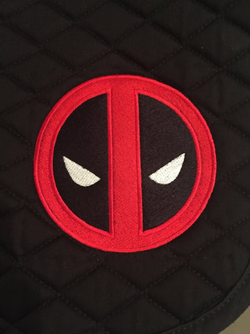 Deadpool Logo Embroidered Saddle Pad - The Houndstooth Horse