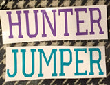 "Hunter Jumper Outdoor/Car Vinyl Decal 5"" wide - Glossytest - The Houndstooth Horse  - 1"