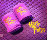 Harry Potter Logo Embroidered Saddle Pad & Polo Wraps Settest - The Houndstooth Horse  - 2