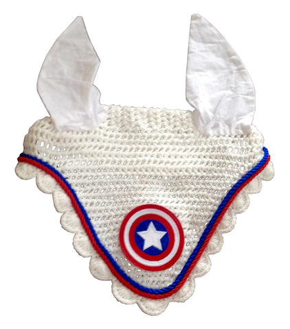 Ultimate Captain America Embroidered Fly Bonnet - The Houndstooth Horse  - 1