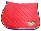 Ultimate Wonder Woman Logo Embroidered Saddle Pad - The Houndstooth Horse  - 1