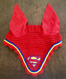 Ultimate Superman Logo Embroidered Fly Bonnet - The Houndstooth Horse  - 2