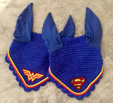 FLASH SALE! Ultimate Superman or Wonder Woman Logo Embroidered Fly Bonnet