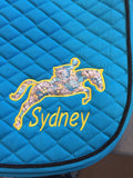 Applique Embroidered Jumper Saddle Pad - The Houndstooth Horse  - 3