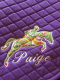 Applique Embroidered Jumper Saddle Pad - The Houndstooth Horse  - 6