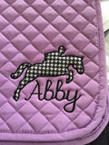 Applique Embroidered Jumper Saddle Pad - The Houndstooth Horse  - 5