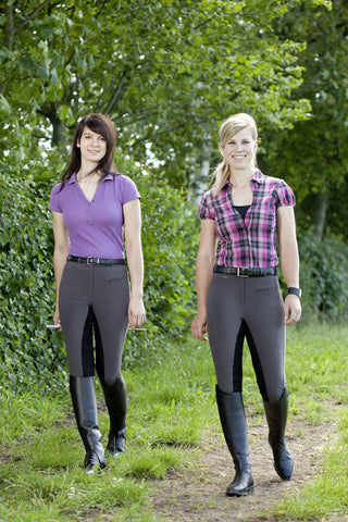 Laguna Full Seat Breech by USG - The Houndstooth Horse  - 1