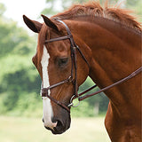 Red Barn Leather MATRIX Studded Figure-8 Bridle with Rubber Reins