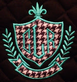 Applique Crest Embroidered Saddle Pad - The Houndstooth Horse  - 1