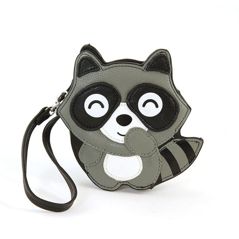 Giggling Racoon Zip Coin Purse